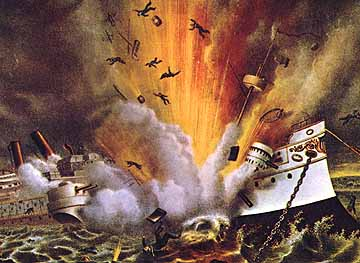 Sinking of the USS Maine - precursor to the Spanish American War