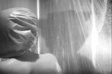 A precursor to Hitchcock's shower scene in The Seventh Victim produced by Val Lewton for RKO Radio Pictures, directed by Mark Robson, starring Tom Conway, Jean Brooks, Isabel Jewell, Kim Hunter, and Hugh Beaumont